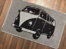 NON SLIP DOORMAT 50X80CM GEL BACKING TOP QUALITY CAMPER DESIGN NEW COLOUR SILVER